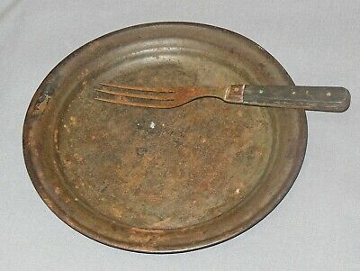 Civil War Tin Plate and Three Tine Fork  (Item #1897, 2005)