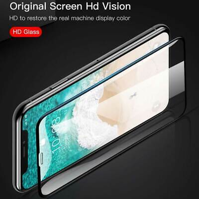 Premium 5D Tempered Glass Screen Protector For iPhone 11 Pro Max X XR XS Max