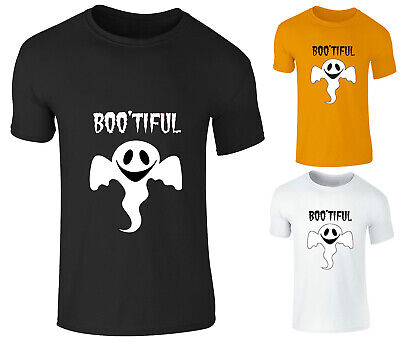 Adults Kids Boys Girls BOOtiful Sheetfaced Scary Funny Halloween T Shirt Top Tee