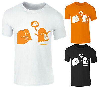 Adults Kids Boys Girls Burnt Ghost Sheetfaced Scary Funny Halloween T Shirt Top