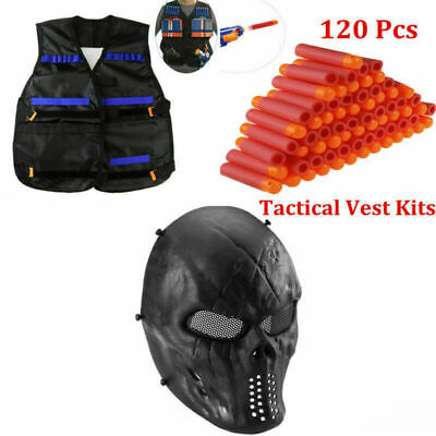 Tactical Vest Kit for Nerf Guns N-Strike Elite Series Camouflage Vest Safety New