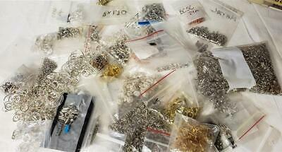 3lbs Of Jewelry Split Jump Rings Clasp, Chains, Parts German Nickel Silver