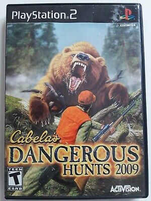 PlayStation 2 Cabela's Dangerous Hunts 2009-Complete-Good Condition-Untested