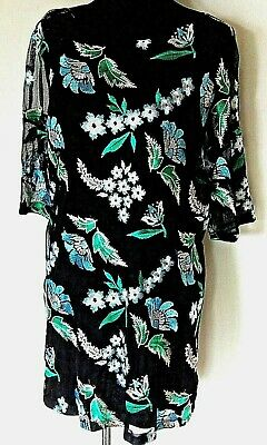 ZARA - BNWT - Embroidery Mesh SHift Dress With a Lining - size M 10-12 UK