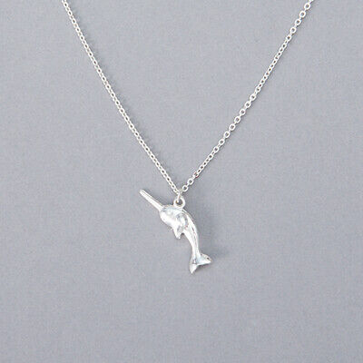 UK Seller 3 Colours NEW Beautiful Origami Style Narwhal Necklace