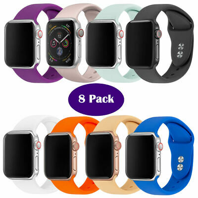 8Pack Bracelet Wrist Strap Band for Apple iWatch Strap 38/40/42/44mm Replacement