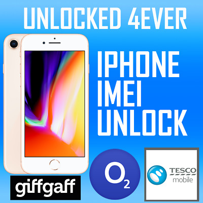 Iphone  O2 Giffgaff Tesco Uk 4, 5, 6 & 7 Factory Unlocking Code Service