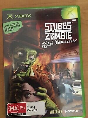 xbox original Case And Book For Stubbs The Zombie No Disc Included