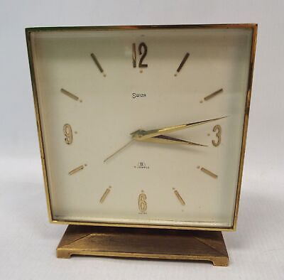 Vintage SWIZA Square Wind Up Clock - Spares/Repairs - O06