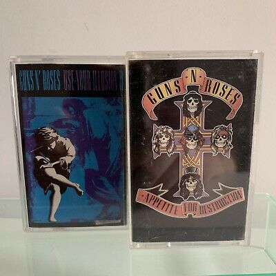 Guns N' Roses Use Your Illusion And Appetite For Destruction Cassette Tapes X 2