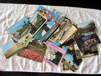 Mixed Lot 55 VTG Postcards Florida Indiana EUROPE Hawaii etc 50's to 80's