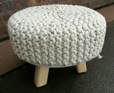 Knitted Footstool ~Round in VGC