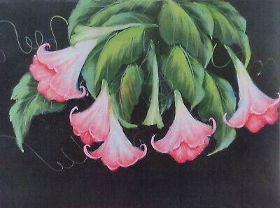 """Ros Stallcup tole painting pattern """"Angel Trumpets"""""""