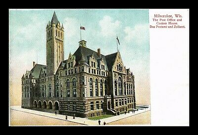 Dr Jim Stamps Us Milwaukee Wisconsin Post Office Custom House Postcard