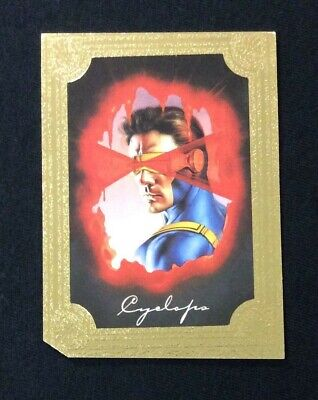 1996 Marvel Masterpieces Cyclops Gold Gallery Promo Chase Comic Card # 1 X-Men