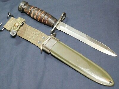 WWII US M1 Carbine Bayonet Imperial Fighting Knife Dagger w/M8A1