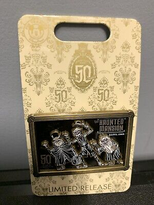 Disney Haunted Mansion 50th Anniversary Ltd Release Pin Hitchhiking Ghosts NEW