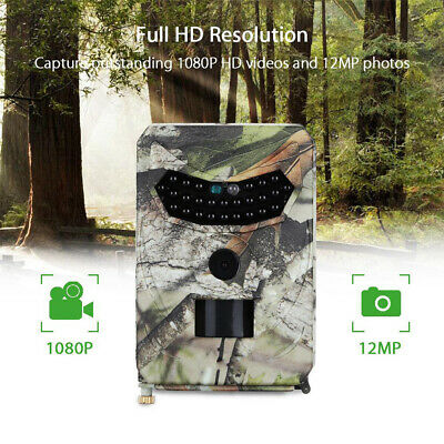 PR-100 Hunting Camera 12MP 1080P HD Night Vision Wildlife Trap Trail Cam Monitor