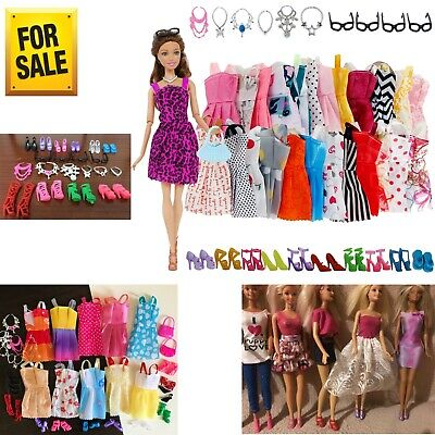 Clothes and Accessories for Barbie Doll Party Dress Outfit Glasses Shoes 32 Pack