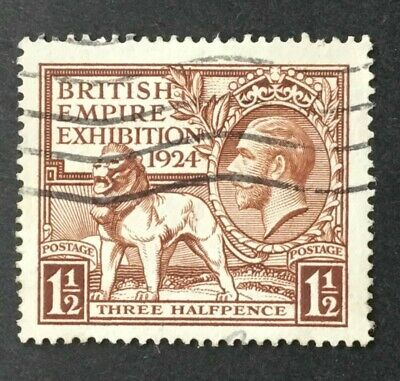 KGV 1924 British Empire Exhibition, 1 1/2d brown, SG431, Used