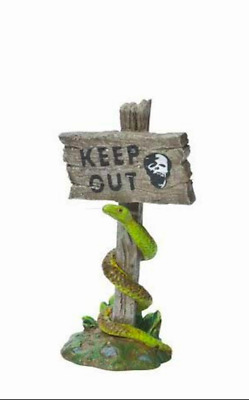 Dept 56 Halloween Village - Scary Warning Sign 809386 Keep Out -  Sign New