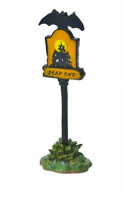 Dept 56 Halloween Village - Scary Warning Sign 809386 Dead End -  Sign New