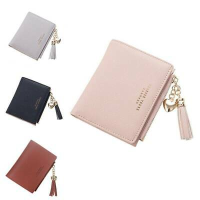 Chic Women Solid Wallet Coin Bag Case Leather Simple Bifold Small Handbag Purse