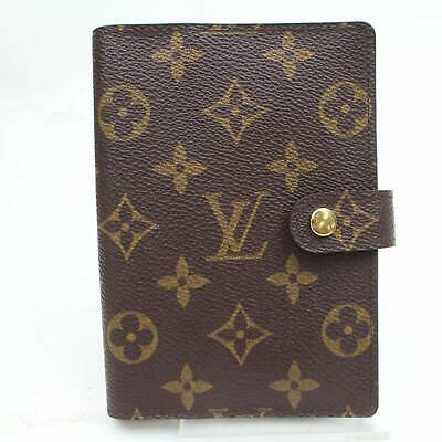 Authentic Louis Vuitton Diary Cover Agenda PM Browns Monogram 805170