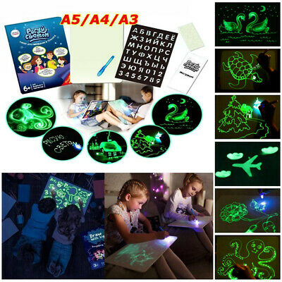Draw With Light Fun And Developing Education Toys Drawing Board Kids Magic Draw