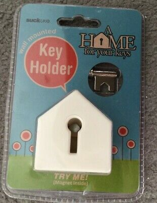Wall Mounted Key Holder With Magnet Inside - A Home For Your Keys - Bnwt