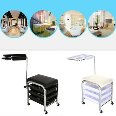 Salon Hairdresser Barber Beauty Storage Trolley Chair Stool Hair Drawers Cart