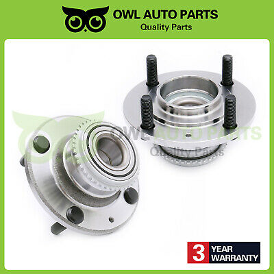 ECCPP Replacement for Pair of 2 New Complete Rear Wheel Hub Bearing Assembly 4 Lugs w//ABS for 2002-2006 Mitsubishi Lancer 512277 x2