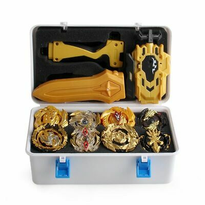 Beyblade Burst w/ LR Launcher Grip + Portable Storage Box 12x Bayblades Xmas Set
