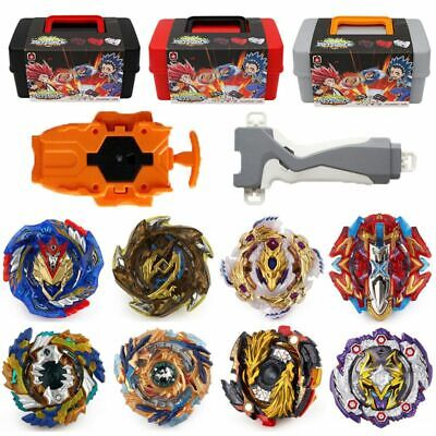 8x Beyblade Burst Set Spinning with Grip Launcher + Portable Storage Box Case