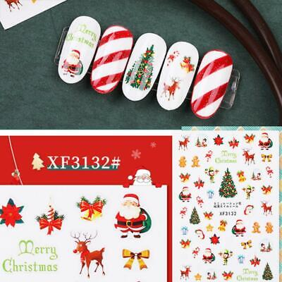 3 Sheets Nail Art Transfer Stickers Flower 3D Decals Manicure Decoration Tips