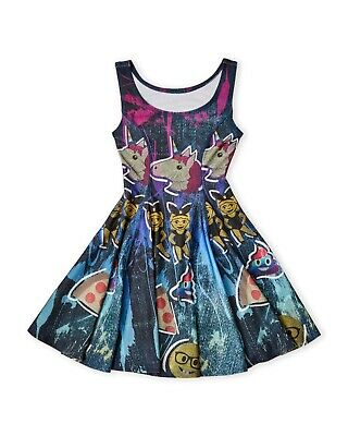 NWT $90 KIDS GIRLS ZARA TEREZ Skater Dress All Over Emoji Print sz M