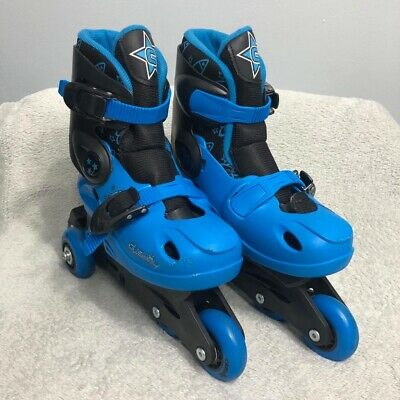 Inline Skates Roller Blades Size 1- 4 Adjustable Kids Unisex Blue Cosmic