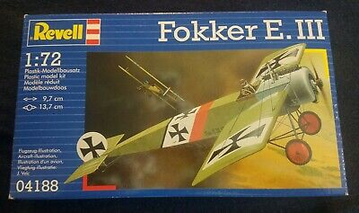Revell 1//72 scale Fokker E.III aircraft  4188 qq