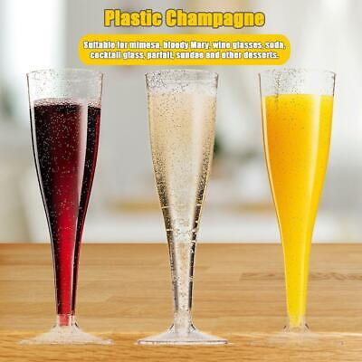Disposable Plastic Goblet Wine Glass Party Wedding Champagne  Cocktail Cup