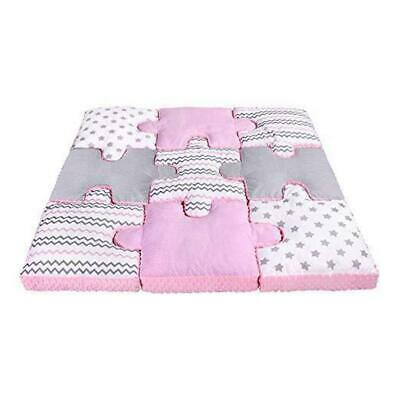 Lulando Set of 9 Puzzle Pillows For Children pink