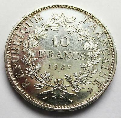 French Coin 10 Francs 1967 Silver 900 Nice Condition