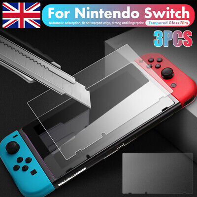3 Pack For Nintendo Switch Console PREMIUM TEMPERED GLASS Screen Protector Cover