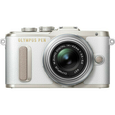 Olympus PEN E-PL8 Mirrorless Camera in White with 14-42mm R Lens