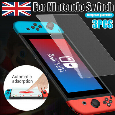 For Nintendo Switch Console PREMIUM TEMPERED GLASS 3Pack Screen Protector Cover
