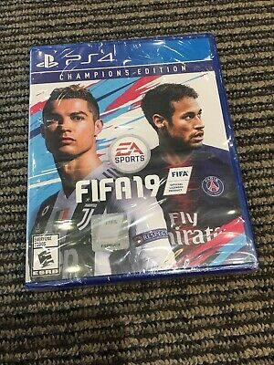 FIFA 19 Champions Edition PS4 Brand New Factory Sealed Premium Jumbo Gold Packs