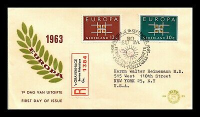 Dr Jim Stamps Europa Cept Combo Registered First Day Issue Netherlands Cover