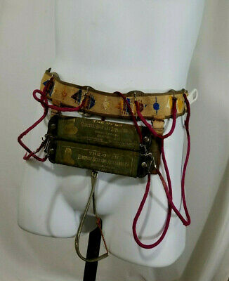 Vtg 19th century Electric Quack Medical Belt Genital Cure All Scrotal Dongle
