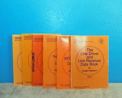 6 Texas Instruments Data Books for Engineers 1977-78 Free Ship