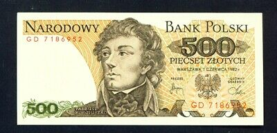 POLAND - 1982 500 Zloty UNC Banknote