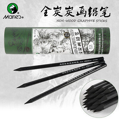 4pcs Marie's Charcoal Pencil For Drawing Soft Painting Sketch Pencils Set Artist